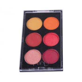 Paleta de Sombra Colorida 6 cores SUNSET Fand Makeup