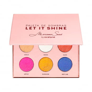Paleta de Sombras Mariana Saad Let It Shine By Océane - 6 Cores